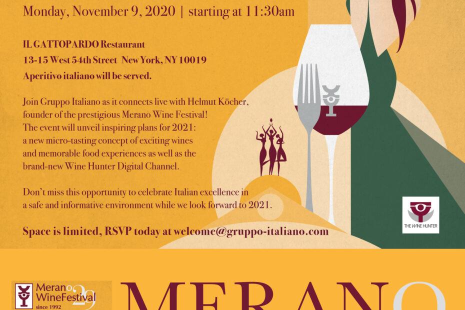 Merano Wine Festival Invitaiton
