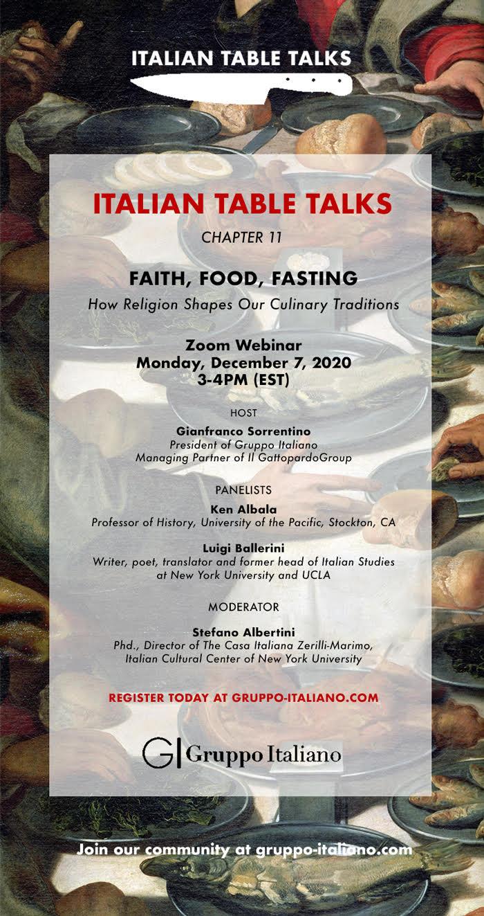 Faith, Food, and Tasting, Dec 7 Event